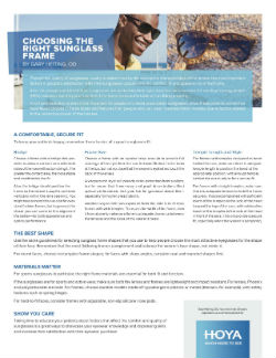 Choosing the Right Sunglass Frame White Paper Cover